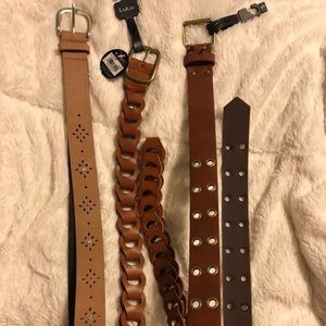 NWT 3 belts size medium, large, 11